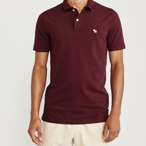 Men's burgundy polo